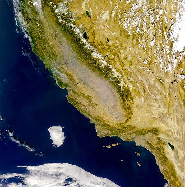 satellite image of san joaquin valley click the image for a better view